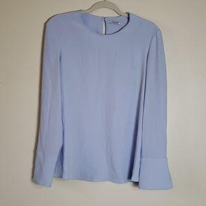 MM. Lafleur light blue long sleeved blouse